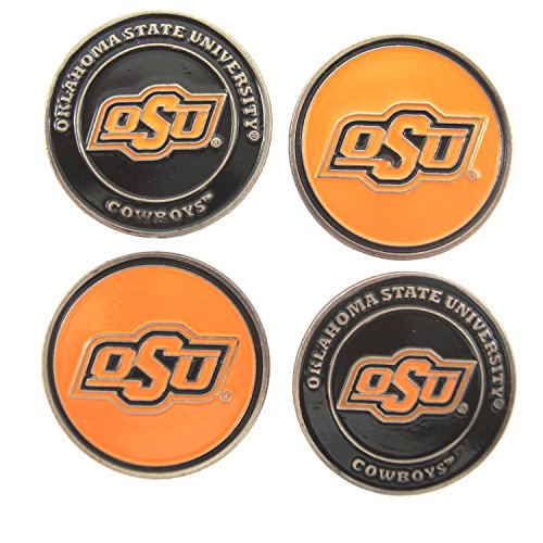 (Waggle Pro Shop Oklahoma State Cowboys Double Sided OSU Golf Ball Markers (Set of Four))