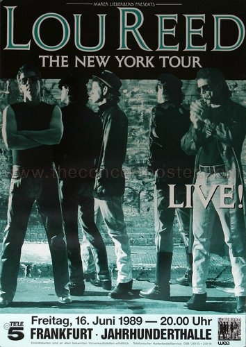 Lou Reed - The New York 1989 - Concert Poster Plakat