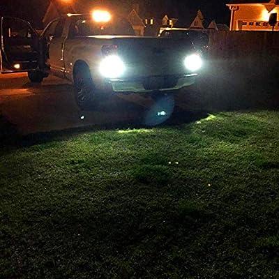 Alla Lighting 7440 7443 LED Bulbs 3000lm Extreme Super Bright Car Signal Reverse Stop Brake Tail Lights DRL T20 7441 7444 W21W 7442, 6000K White: Automotive