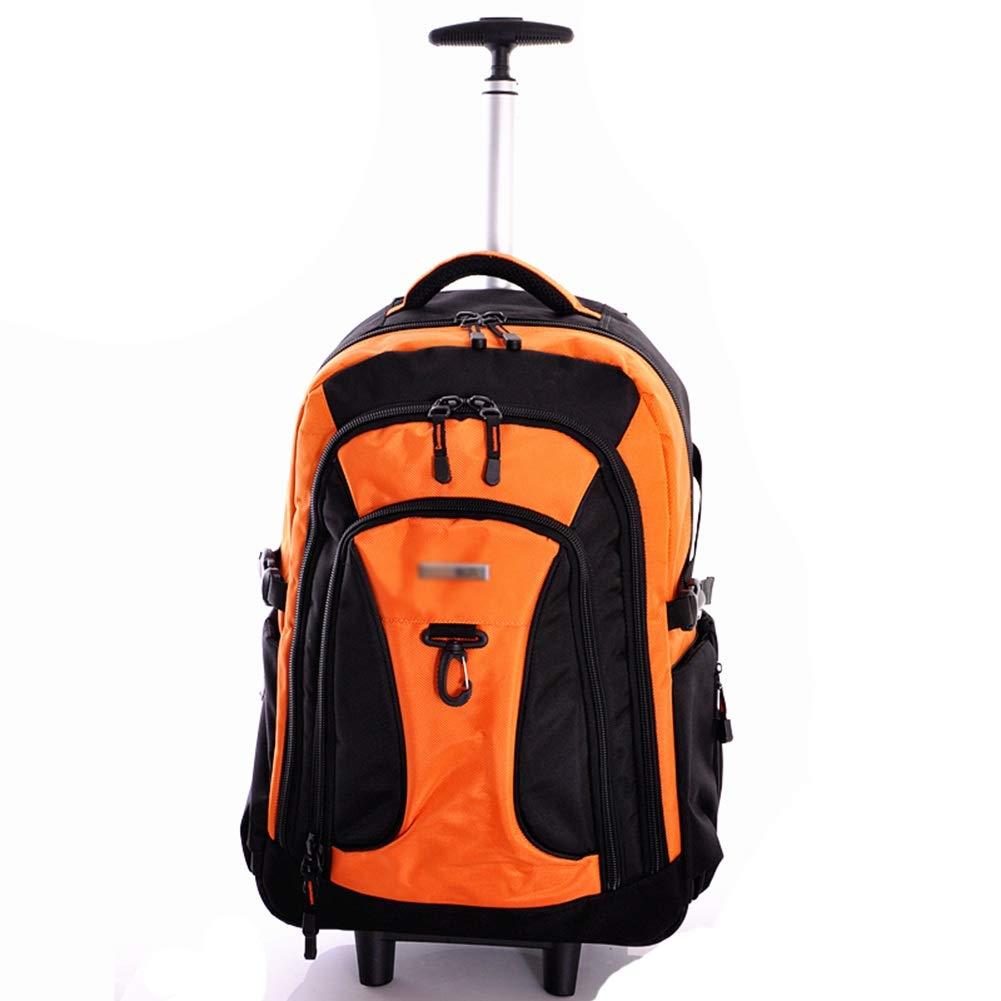 超軽量出張旅行ローリングラップトップPCタブレットコンピュータトロリーバックパックスーツケース手荷物キャビンバッグオレンジ大容量 ZHANGAIZHEN (色 : Orange, サイズ さいず : 54*33*27cm) B07PHY132C Orange 54*33*27cm