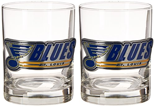 Louis Blues Rocks Glass - 1