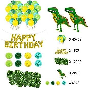 LIZHIQQ Y 55pcs 63pcs Dinosaurio Tema del Partido Conjunto ...