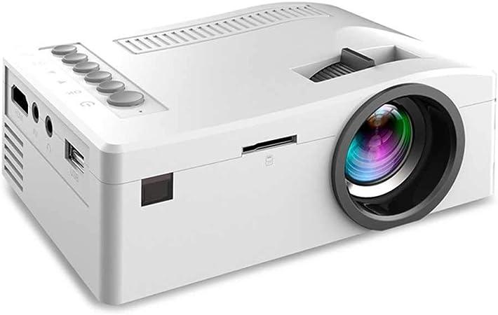 TcoolPE Mini Portátil Proyector, de Cine en Casa Altavoces Duales Incorporados Soporte Compatible con HD 1080Ppara Cine en casa televisor Ordenador portátil Smartphone (Color : A): Amazon.es: Hogar