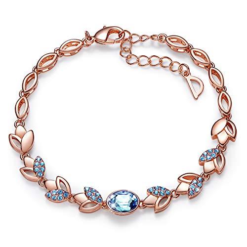 Animal Gold Bracelet - CDE Rose Gold Women Bracelet Embellished with Crystals from Swarovski Jewelry for Women, Tennis Bracelet Bangle Jewelry Gift, 7