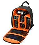 Kamabags Professional SLR/DSLR Camera and Accessories Backpack Waterproof Camera Bag for Canon, Nikon, Sony, Olympus, Samsung, Panasonic, Pentax models (Orange) Review
