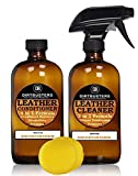 Dirtbusters leather cleaner and conditioner with deodorising treatment and applicator 2 x 500ml strong trade formula leather care neutral ph cleaning kit