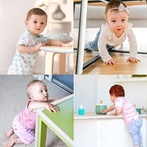 516vhPiqkoS Baby Proofing Edge Corner Protector 16.4 ft Edge + 20 Corners, Momcozy Table Bumper Guard, Soft Rubber Foam Guard Pre-Taped Baby Safety Corners Cushion,Heavy-Duty, White    Product Description