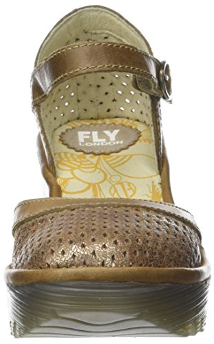 Or luna Fermé Escarpins Yupi840fly camel Bout Femme Fly London wYqxCUp