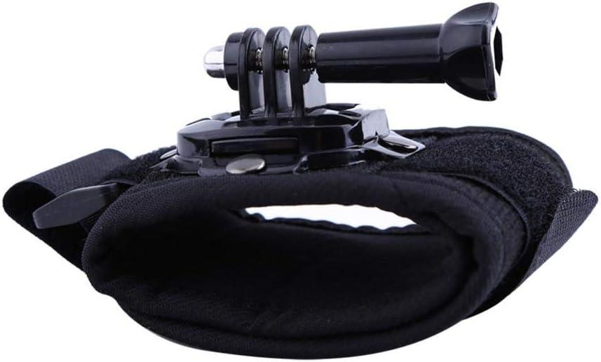 حزام لمعصم اليد بحامل تثبيت بدوران 360 درجة لكاميرا جوبرو هيرو 1/2/3/ 3+ /4، ملحقات جوبرو