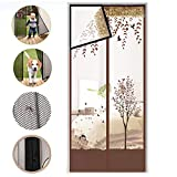 SOFIALXC Magnet Fly Screen Tulle Door Door Magnetic Mosquito Net Automatic Closing Anti Insect Protection Mesh,E,80×200cm