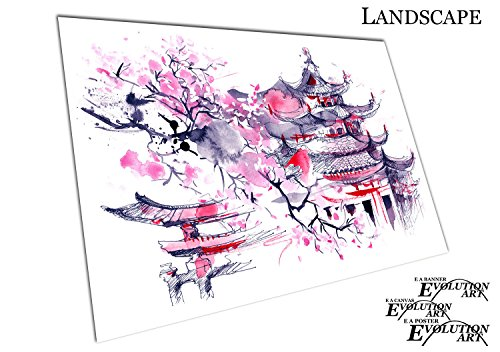 Poster Print Japanese illustration art Cherry blossom pink J