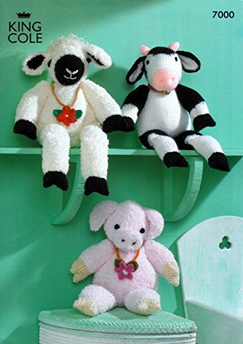 King Cole Farmyard Collection Knitted Toys Sprinkles Knitting Pattern 7000 DK, Chunky