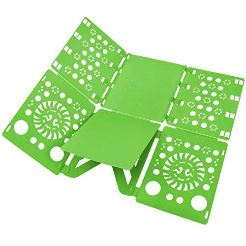 (BOXLEGEND V2 shirt folding board t shirts clothes folder durable plastic laundry folders folding boards flipfold, Green )