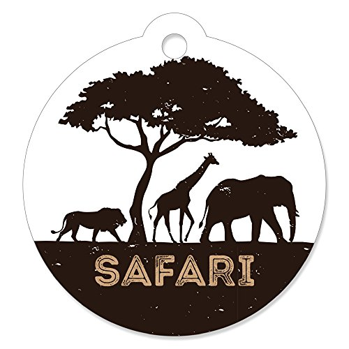 Wild Safari - African Jungle Adventure Birthday Party or Baby Shower Favor Gift Tags (Set of 20) -