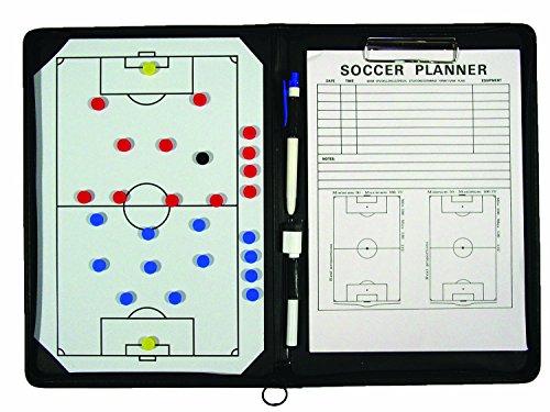 TeamGear Portfolio Soccer Magnetic Clipboard, Brown, 12' x 18