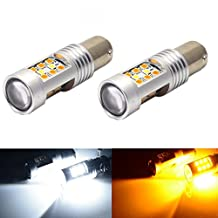 JDM ASTAR Extremely Bright PX Chipsets White/Yellow 1157 2057 2357 7528 Switchback LED Bulbs For Turn Signal Lights(Brightest Switchback bulb in the market)