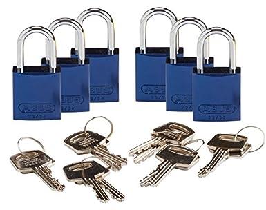 Brady 133262 llave candado, diferentes clave, aluminio (Pack de 6): Amazon.es: Amazon.es