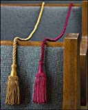 "Weighted Pew Reservation Rope 58"" with Heavy Tassle Ends Reserved Church Seating Accessory - Gold"