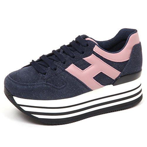 222 Blu Grande Woman blu H Shoe Maxi H283 Rosa Sneaker Hogan Donna E0254 TwpqPKHY
