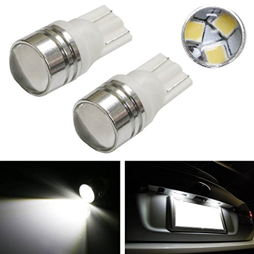iJDMTOY (2) Xenon White 3-SMD-2835 Projector Lens 168 194 2825 W5W LED Replacement Bulbs For License Plate Lights, also Parking Position Lights, Interior Lights
