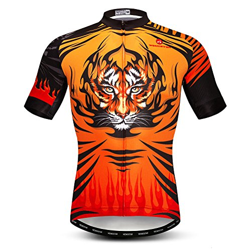 Short Sleeved Outdoor Pro Biking Riding Clothing Mountain Bicycle Jerseys Breathable Skull T- Shirt Tops ()