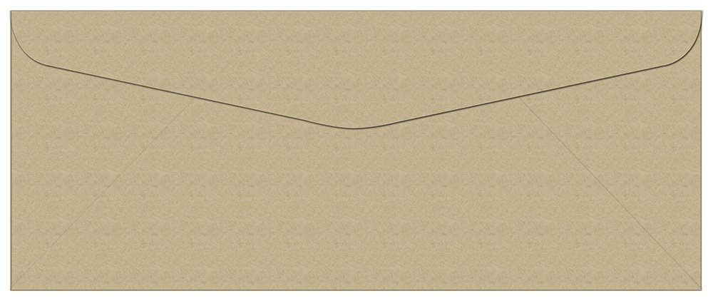 "Standard Flap 9.5/"" x 4.125/"" 250 Gray #10 Envelopes"