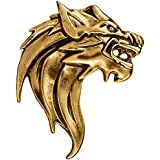 TRIPIN Golden Classic Lion Design Lapel PIN Brooch for Men Women for Office Corporate Party French Cuff Shirts Shirt Suit Blazer