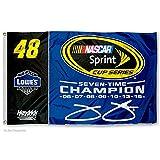 Jimmie Johnson 7 Time NASCAR Champion Flag