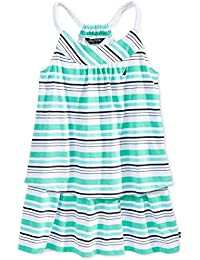 Baby Girls Stripe Double Tier Dress With Rope Straps