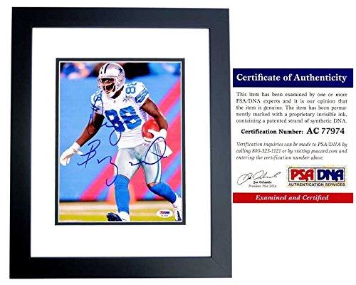 Dez Bryant Signed - Autographed Dallas Cowboys 8x10 inch Photo BLACK CUSTOM FRAME - PSA/DNA Certificate of Authenticity (COA)