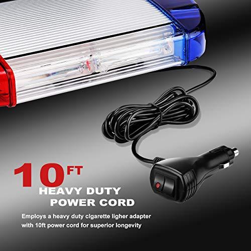 126 Luz Azul & rojo LED estroboscópica intermitentes para emergencia peligro advertencia vehículos de construcción luz minibar luz de advertencia luminosa con base magnética 11
