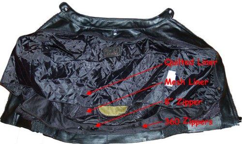 Men's Blade Motorcycle Riding Leather Armor Biker Ventilated Jacket Black M