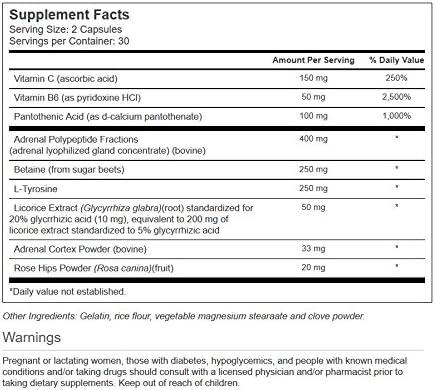 Vitacost Adrenal Stress-Combat - 60 Capsules