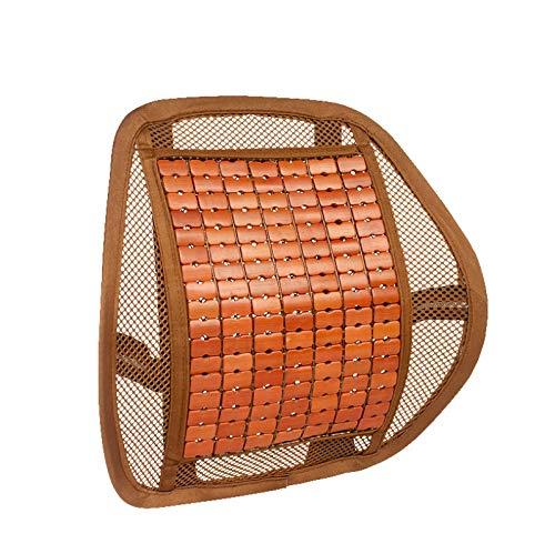 Cintura Del Automóvil Por Verano Hielo Seda Bamboo Chip Cintura Por Masaje Cintura Asiento Cintura Cojín Marrón