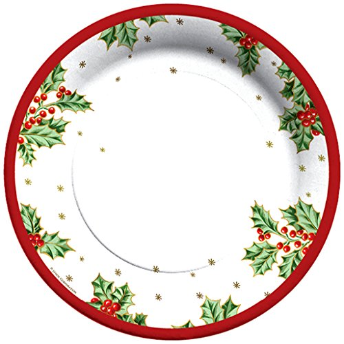 C.R. Gibson 8 Count Decorative Paper Lunch/Dessert Plates, By Lenox, Easy Clean Up, Measures 8