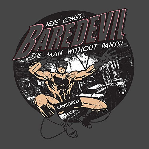 Here Comes Baredevil The Man Without Pants Daredevil Parody Men's T-Shirt