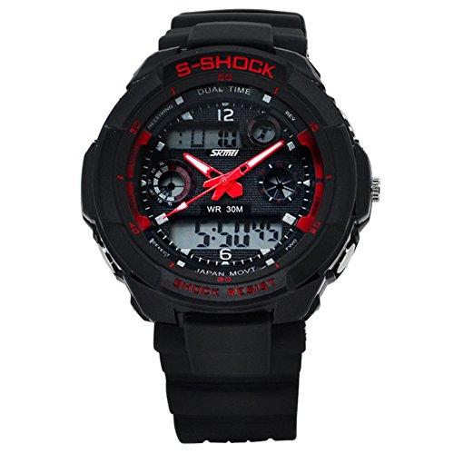 UGE 164ft Waterproof S-SHOCK Sport Hiking Multifunction Digital Unisex Watch Wristwatch by UGE