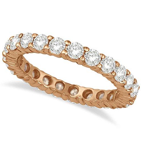 Diamond Eternity Ring Wedding Band 14k Rose Gold (2.50ct) (Wedding Ring With Diamonds All The Way Around)