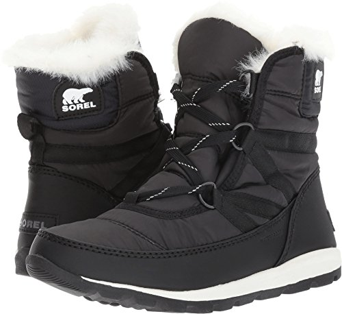 Sorel Women's Whitney Short Lace Snow Boot, Black, Sea Salt, 6.5 M US by Sorel
