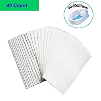 Super-Absorbent Pads for Commode Liners (40-60oz per Count), CuleedTec SAP Absorbency Commode Absorbent Pads for Bedside Commode Bags, Gelling Absorbent Pads, Liquid Absorber (40 Count)