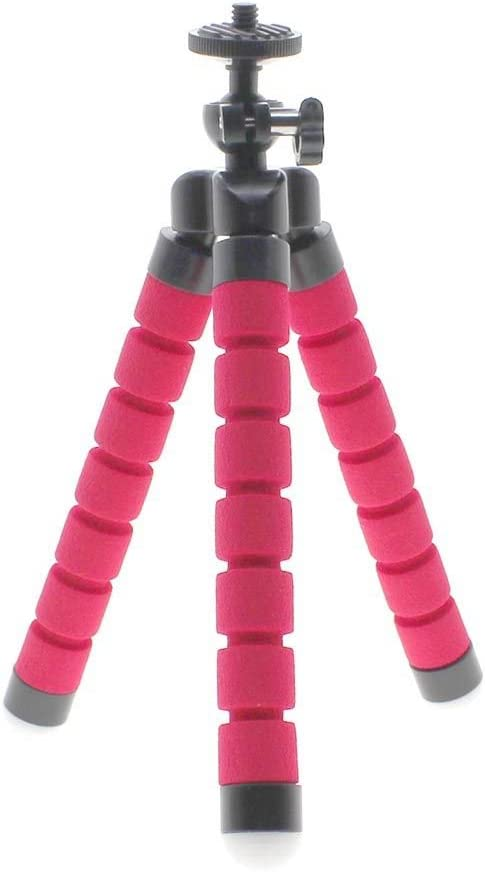 HuntGold Universal Flexible Foam Octopus Mini Tripod Stand for Digital Camera DV Phone Red