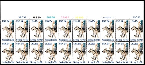 (Seeing For Me Plate Block of 20 x 15c - Scott 1787 - MNH)
