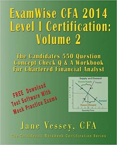 Book 2014 Cfa Level I Certification Examwise Volume 2 the Candidates Question & Answer Workbook for Chartered Financial Analyst Exam with Download Software by Jane Vessey (2014-01-07)