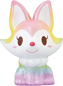 ibloom Foxy Fox Cute Animal Slow Rising Squishy Toy (Ciela, Muscat Scented) for Birthday Gifts, Party Favors, Stress Balls, Play at Home & Relieve Stress with Kawaii Squishies for Kids, Girls, Boys