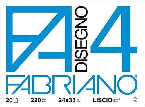 BLOCCO FABRIANO 4-20 FOGLI LISCI RIQUADRATI 33X48 CM. 220 GR MQ.