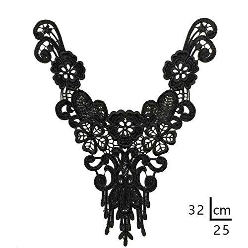 Embroidery Neckline Applique Lace Collar Polyester Trim Collar DIY Dress Making (Size - 57)