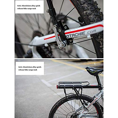 J-oranges Bike Luggage Cargo Rack Aluminium Adjustable 110 lbs Capacity with Quick Release&Reflective Logo Professional Bicycle Accessories Easy to Install