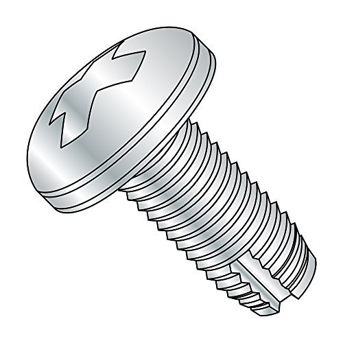 Pan Head #10-24 Thread Size Phillips Drive Pack of 50 Small Parts 10161PP 1 Length 1 Length Steel Thread Cutting Screw Type 1 Zinc Plated Finish Pack of 50