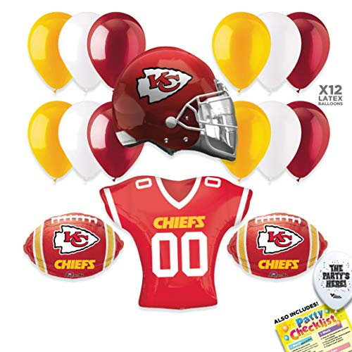 Kansas City Chiefs Football NFL Sports Team Party Supplies Decorations Balloon Kit - -