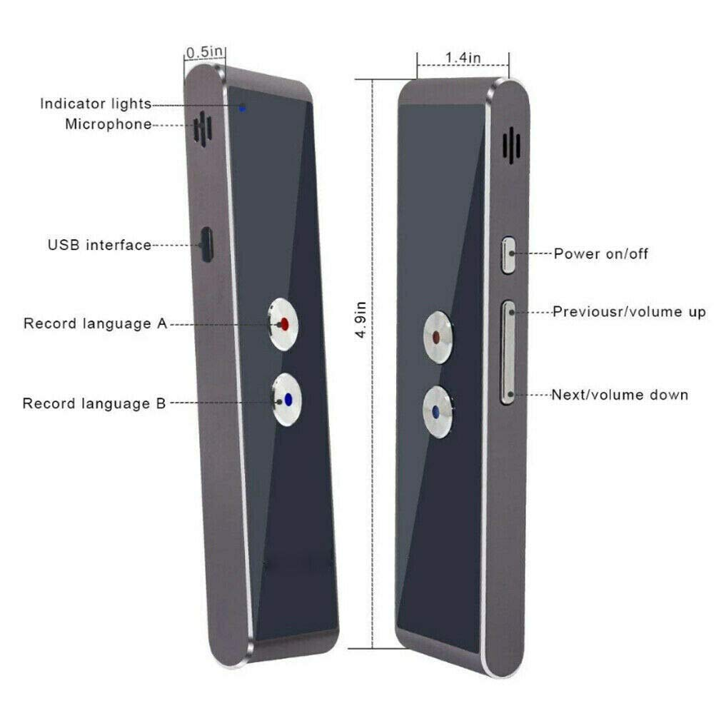 Black Translaty MUAMA Enence Smart Instant Real Time Voice Languages Translator New